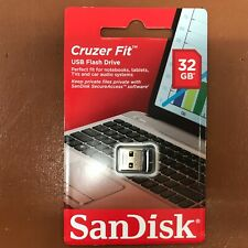 NEW SanDisk 32 GB CRUZER FIT USB Memory Stick Flash Pen Drive Tiny Small USB 2.0
