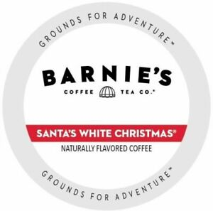Barnie's Coffee Kitchen Santa's White Christmas 24 to 144 K cup Pick Any Size