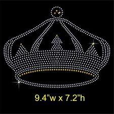 Personalised Princess /& crown Rhinestone//Diamante Transfer Hotfix Iron on Motif