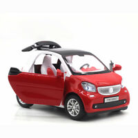 1:24 Smart ForTwo Die Cast Modellauto Auto Spielzeug Rot Sammlung mit Ton Licht