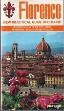 Florence & Surroundings New Colored Artistic Guide in Color 1988 with Paper Map