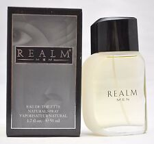 Realm by Erox Corp For Men, Eau de Toilette Spray 1.7oz/50ml (1994, Grey Box)