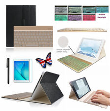 7 Color Backlit Wireless Keyboard Black Case For Samsung Galaxy Tab S2 9.7 T815