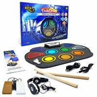 MUKIKIM Rock And Roll It Color Coded Flexible Roll-Up Drum Kit NEW