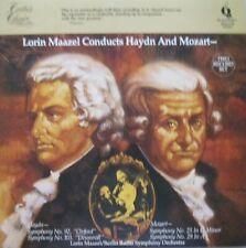 LORIN MAAZEL CONDUCTS HAYDN AND MOZART  - 2 LP
