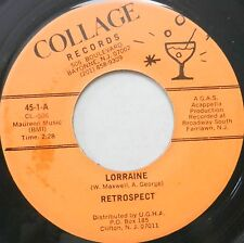 Retrospect 45 Lorraine / Row Your Boat COLLAGE Doo Wop A CAPPELLA #T589