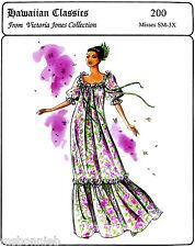 Loose-fit, Floor Length Pullover Muumuu  S-3XL Victoria Jones Sewing Pattern 200