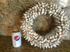 Large Natural Shell Wreath - Deluxe Coastal Beach Tropical Decor NWT