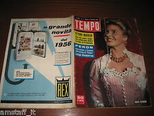 RIVISTA TEMPO 1956/2=INGRID BERGMAN=TEATRO LA PICCOLA SCALA=COLONELLO PERON=