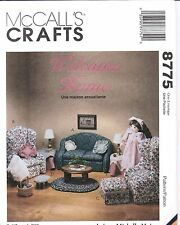 "8775 UNCUT Vintage McCalls Sewing Pattern Doll Furniture 4 18"" Dolls Sofa Chair"