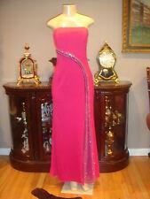 Cassandra Stone  Multi Fushia  Beaded Prom Gown Pageant Dress sz 2