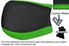 GREEN & BLACK CUSTOM FITS TRIUMPH SPEED TRIPLE 955 i 97-01 FRONT SEAT COVER