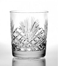4 HAND CUT GLASS WHISKY TUMBLERS 180ml 24% Lead Crystal Glasses ZW Poland NEW