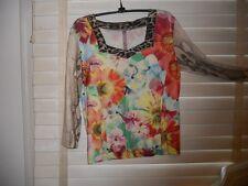 NWOT Eva & Claudi Denmark ~ Art To Wear ~ Lagenlook ~ Floral/Animal Print Tee