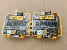 50 X DEWALT PZ2 25MM SCREWDRIVER BITS IN TOUGH CASE (2 X PACKS)
