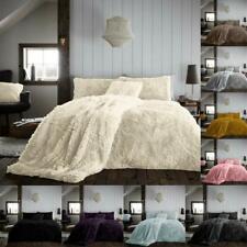 Fleece Teddy Hug & Snug Duvet Quilt Cover Bedding Set With Pillowcase Warm Cosy
