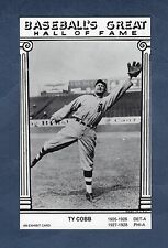 "TY COBB, Tigers ""An Exhibit Card Baseball's Great Hall of Fame"" with statistics"