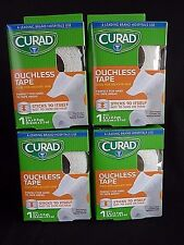 """Curad Ouchless Tape, 2"""" Width x 2.3 Yds. each roll  Total of 4 ROLLS"""
