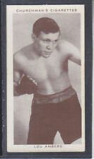 Churchman - Boxing Personalities 1938 - # 1 Lou Ambers