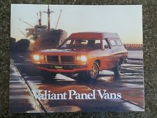 1977 CL CHRYSLER VALIANT PANEL VAN  BROCHURE PLUS CLR CHART  100% GUARANTEE.