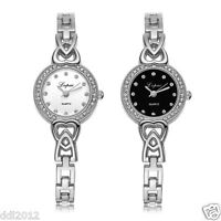 Women's Ladies Luxury Stainless Steel Crystal Dress Quartz Analog Wrist Watch