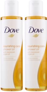 Dove Nourishing Care Shower Oil with Argan Oil 200ml x 2