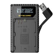 Nitecore UCN1 USB Digital Charger for Canon LP-E6 LP-E6N LP-E8 Camera Batteries
