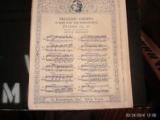 Chopin, ed. Friedheim: Etude in A Minor, piano solo (Schirmer)