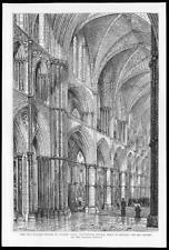 1890 Antiguo Print-Londres español Iglesia Manchester Cuadrado (64)