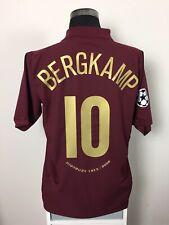 BERGKAMP #10 Arsenal CL Home Football Shirt Jersey 2005/06 (L)