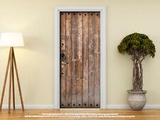 Türtapete Türposter ALTE HOLZTÜR MIT EISENBESCHLÄGE selbstklebend 205 x 88 cm