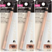 (3) Maybelline New York Lasting Drama Gel Pencil New & Sealed 611 - Soft Nude