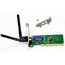 PCI 300Mbps 300M 802.11b/g/n Wireless WiFi Card Adapter w/Low Profile Bracket