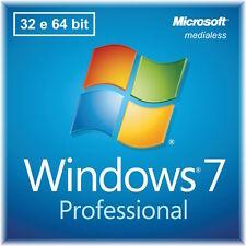 Licenza Windows 7 Professional 32/64 Bit Dvd + COA  OFFERTA SPECIALE LIMITATA