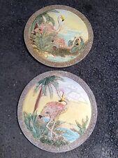 Pink Flamingo Flamingos stepping stones wall Art plaque 3D Mold Bird Tropical