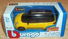 MODELLINO BURAGO street fire FIAT 500 LOUNGE GIALLA E NERA  1:43 cod.9176