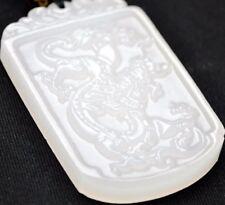 Sonderangebot! Amulett Drache Jade-Anhänger mit Halskette Schmuck Unikat CHINA
