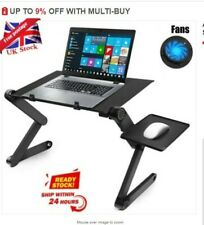 Adjustable Folding Notebook Laptop Desk Table Stand Sofa Bed Tray W/ Cooling Fan