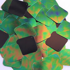 Green Jungle Rainbow Black Sequin Square Diamond 1.5 inch Couture Paillettes