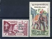 Laos 1960 Mi. 103-104 Nuovo ** 100% Anno Mondiale di Rifugiato