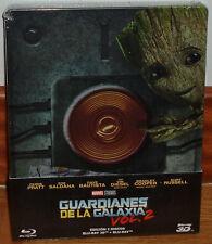 GUARDIANES DE LA GALAXIA VOL.2 STEELBOOK BLU-RAY 3D+BLU-RAY NUEVO PRECINTADO R2