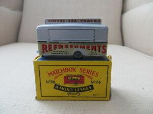 MATCHBOX A MOKO LESNEY, MOBILE CANTEEN #74 NEAR MINT CONDITION, 1959