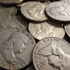 $100 face Franklin 90% Silver Half Dollars (200 pcs) FREE Shipping