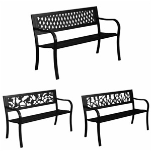 Rustic iron garden metal chairs for outdoor seating 2 patio 3 home furnishing