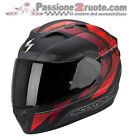 Casco Scorpion Exo 1200 Hornet nero opaco rosso moto air pump