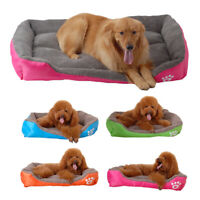 Medium Extra Large Dog Pets Cat Bed Basket Pet Warm Cushion Fleece Washable Soft
