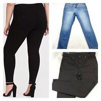 Lot Of 2 Torrid Women Size 12S Sky High Skinny Jeans Premium Stretch Denim 31x26