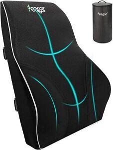 Feagar Lumbar Pillow Back Support Cushion Memory Foam Car Home Office Chair Bag