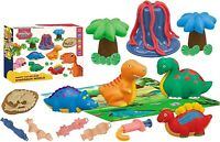 Magic Dough Dinosaur Volcano World Play Set & Moulds Kids Putty Doh Kit 095