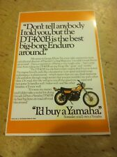 Vintage Yamaha Dt400 Dirtbike Poster Advertisement Man Cave Art Christmas Gift